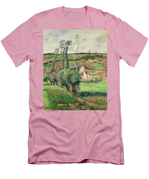 The Cabbage Slopes Men's T-Shirt (Slim Fit) by Camille Pissarro