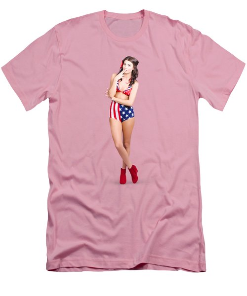 The Classic Pin-up Girl Photo Men's T-Shirt (Slim Fit)