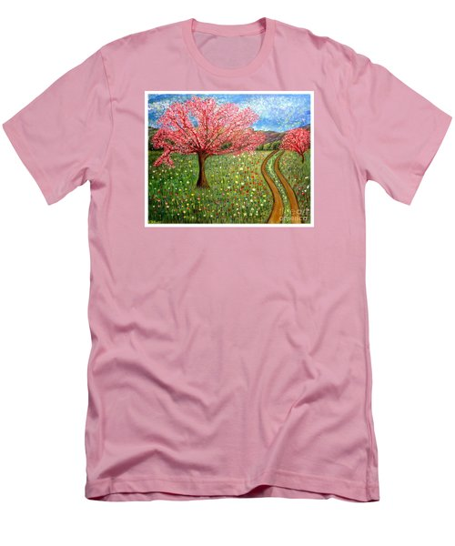 The Enchanted Fairy Garden Meadow Men's T-Shirt (Slim Fit) by Kimberlee Baxter