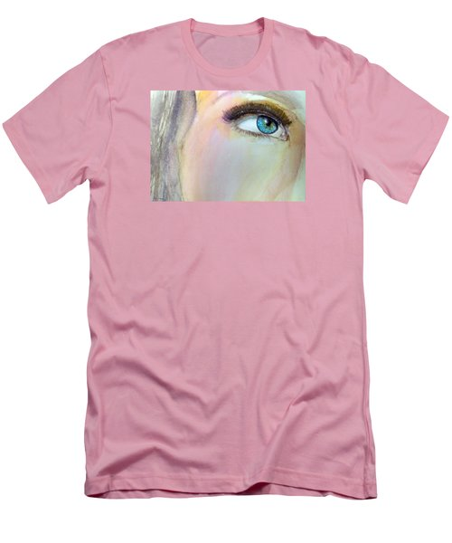 Men's T-Shirt (Slim Fit) featuring the painting The Eyes Have It by Ed  Heaton