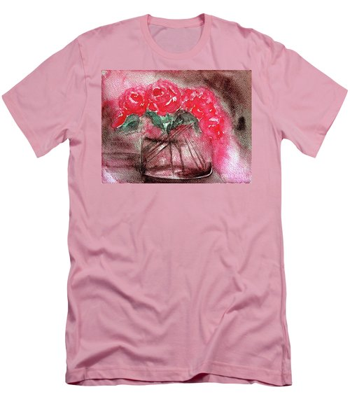 The Last Red Roses Men's T-Shirt (Slim Fit) by Jasna Dragun