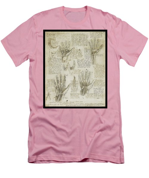 Men's T-Shirt (Slim Fit) featuring the painting The Metacarpal by James Christopher Hill