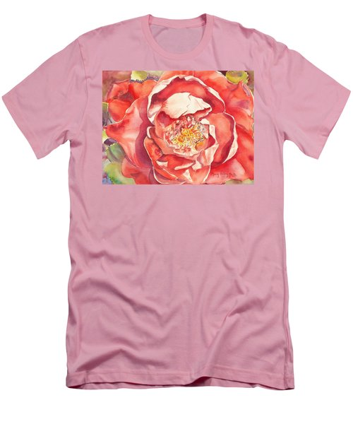 The Rose Men's T-Shirt (Slim Fit) by Mary Haley-Rocks