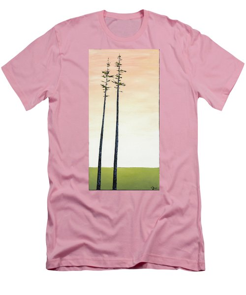 The Trees Are So Tall Here   Men's T-Shirt (Slim Fit) by Carolyn Doe