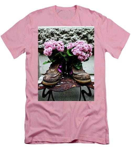 These Boots Are Made For Flowers Men's T-Shirt (Athletic Fit)