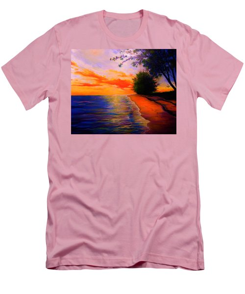 Men's T-Shirt (Slim Fit) featuring the painting This Is Living by Emery Franklin