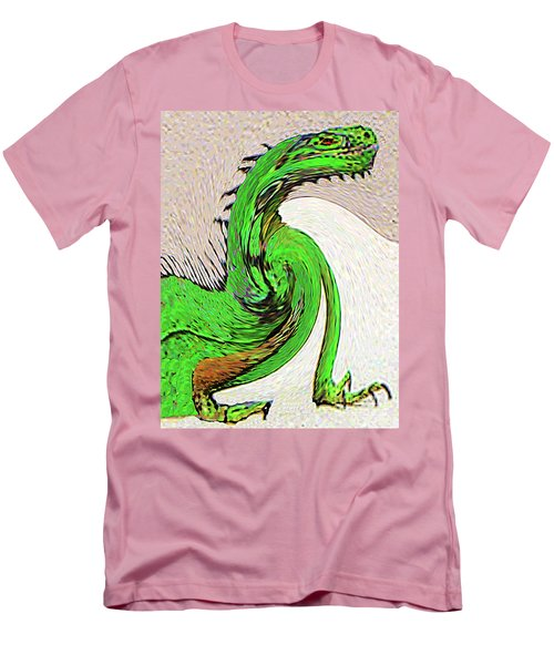Men's T-Shirt (Athletic Fit) featuring the digital art Triumphant Iguana by Merton Allen