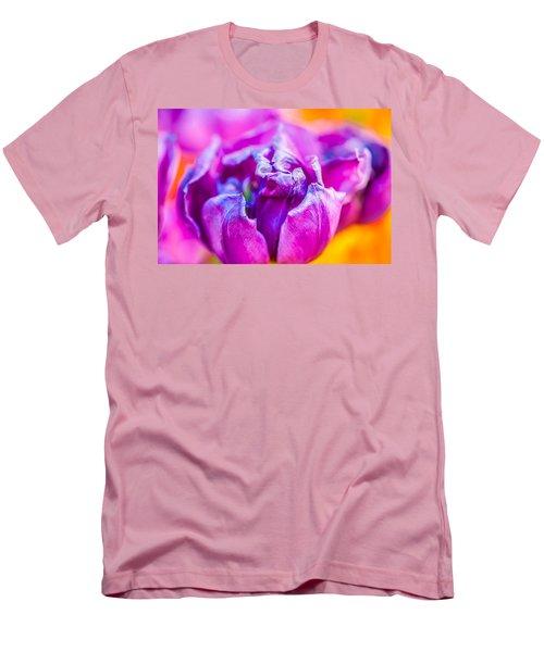 Men's T-Shirt (Slim Fit) featuring the photograph Tulips Enchanting 50 by Alexander Senin