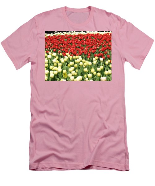 Tulips Of Spring Men's T-Shirt (Slim Fit) by Christopher Woods