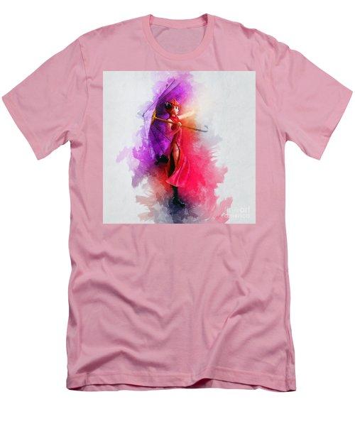 Umbrella Girl Men's T-Shirt (Athletic Fit)