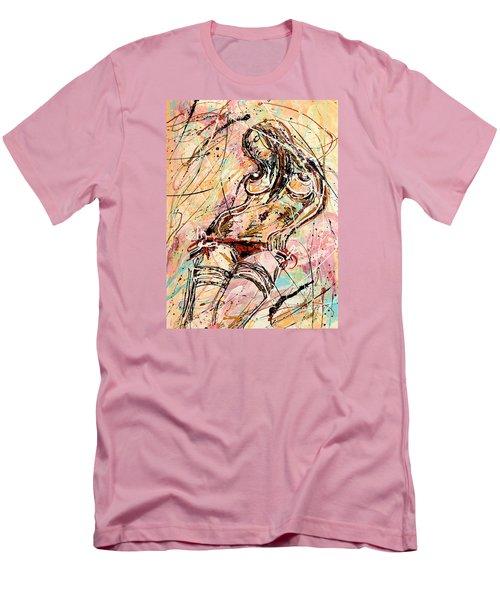 Undressing Woman  Men's T-Shirt (Slim Fit) by Erika Pochybova