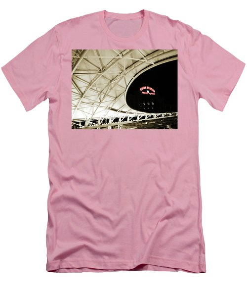 Men's T-Shirt (Slim Fit) featuring the photograph Union Station Denver by Marilyn Hunt