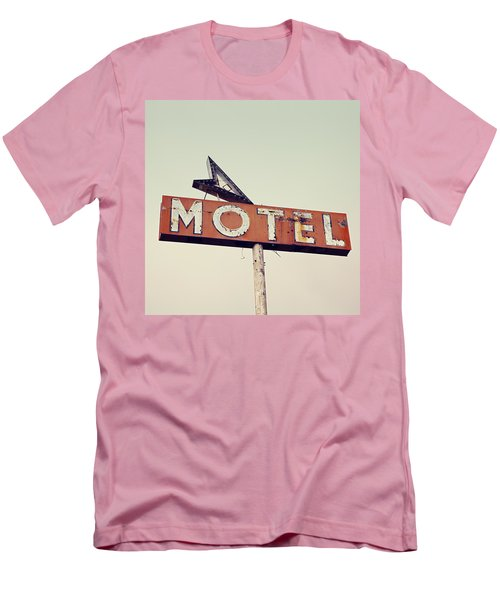 Vacancy Vintage Motel Sign Men's T-Shirt (Slim Fit) by Melanie Alexandra Price
