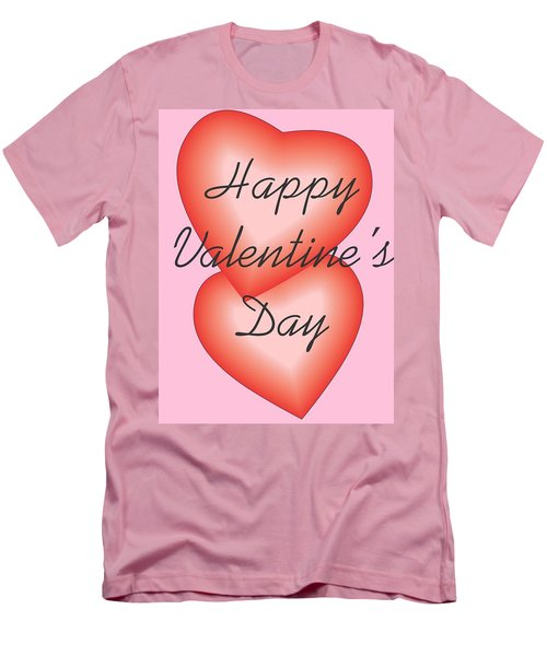 Valentine Hearts Men's T-Shirt (Athletic Fit)