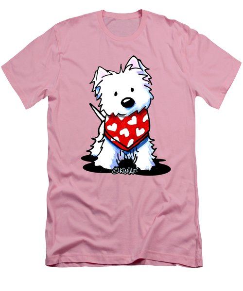 Valentine Westie Men's T-Shirt (Athletic Fit)