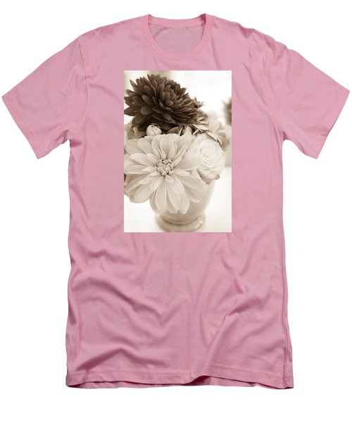 Vase Of Flowers In Sepia Men's T-Shirt (Athletic Fit)