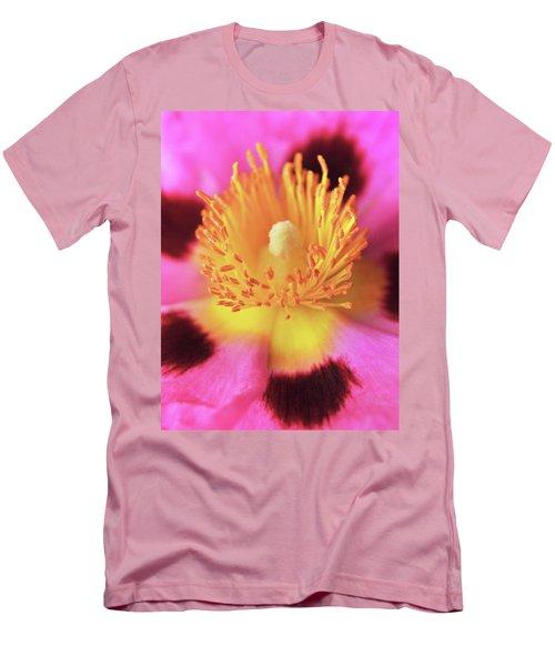 Vibrant Cistus Heart. Men's T-Shirt (Slim Fit) by Terence Davis
