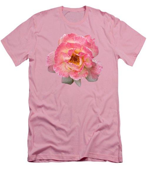 Vintage Rose Square Men's T-Shirt (Athletic Fit)