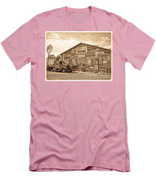 Vintage Service Station Men's T-Shirt (Slim Fit) by Steve McKinzie