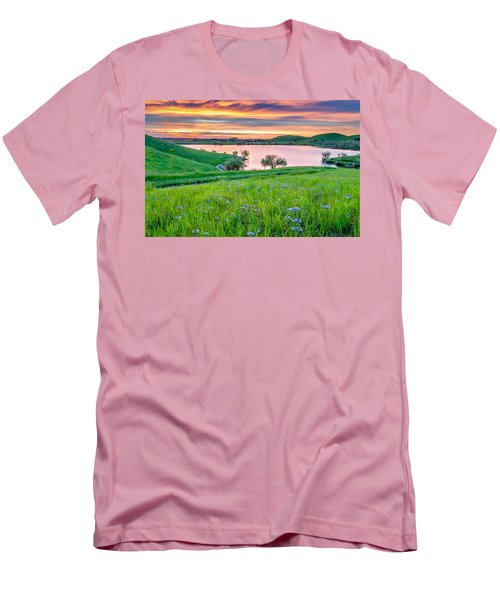Men's T-Shirt (Slim Fit) featuring the photograph Wally Baskets Above Contra Loma  by Marc Crumpler