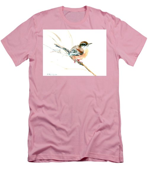 Warbler Songbird Art  Men's T-Shirt (Athletic Fit)