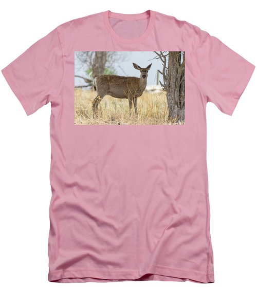 Watching From The Woods Men's T-Shirt (Slim Fit) by James BO Insogna