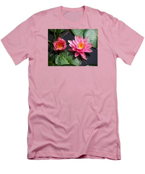 Men's T-Shirt (Slim Fit) featuring the photograph Water Lilies by Joy Nichols