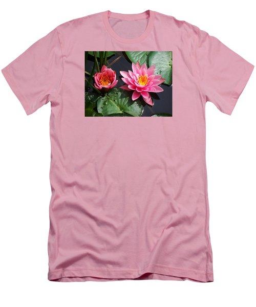 Water Lilies Men's T-Shirt (Slim Fit) by Joy Nichols