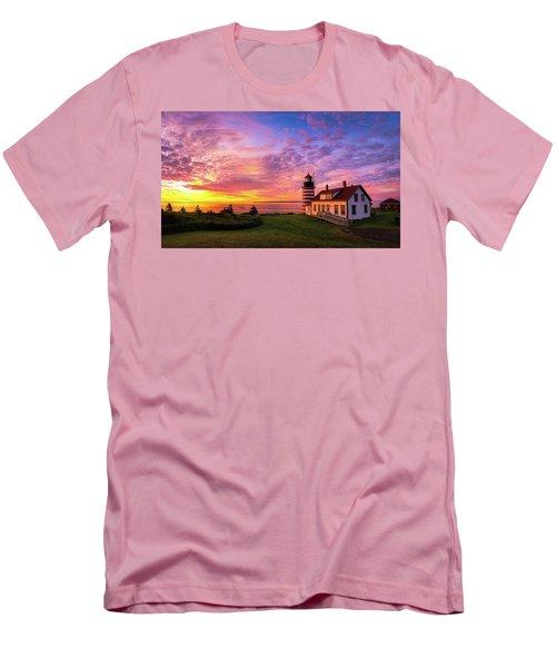 West Quoddy Head Light Men's T-Shirt (Slim Fit) by Robert Clifford