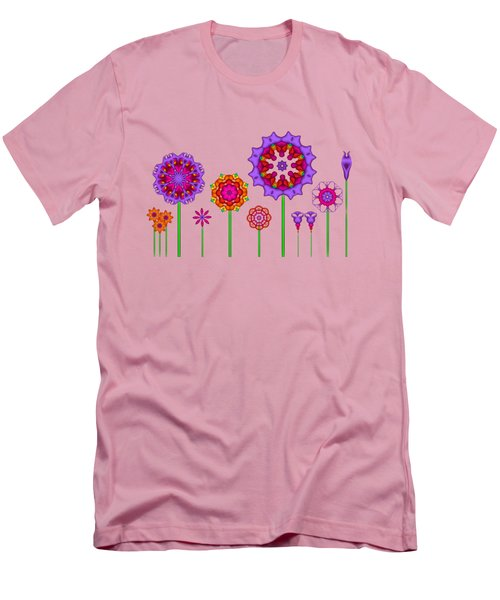 Whimsical Fractal Flower Garden Men's T-Shirt (Athletic Fit)