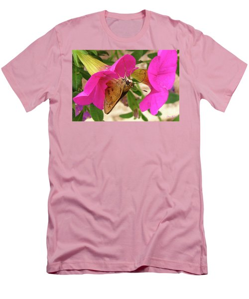 Whirl-about Skipper Butterfly Men's T-Shirt (Slim Fit) by Donna Brown