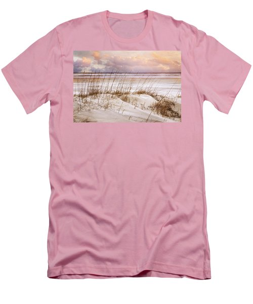 Men's T-Shirt (Slim Fit) featuring the photograph Whispers In The Dunes by Debra and Dave Vanderlaan