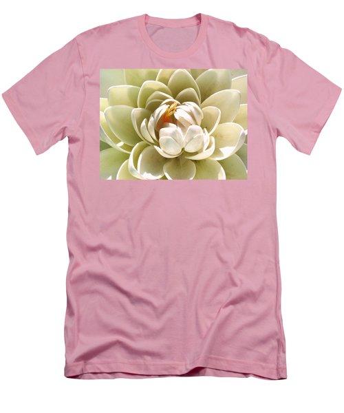 White Blooming Lotus Men's T-Shirt (Slim Fit) by Sumit Mehndiratta