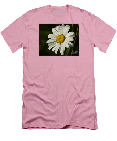 Men's T-Shirt (Slim Fit) featuring the photograph White Daisy Flower by JT Lewis