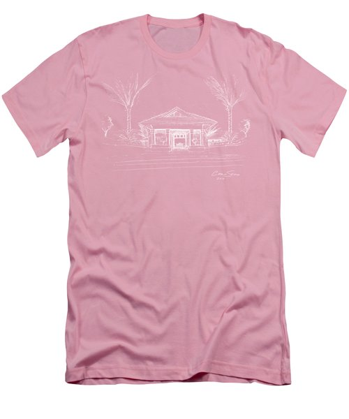 white lines on transparent background 10.28.Islands-8 Men's T-Shirt (Athletic Fit)