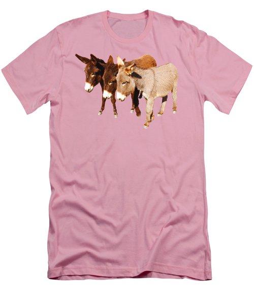 Wild Burro Buddies Men's T-Shirt (Slim Fit) by Sandra O'Toole