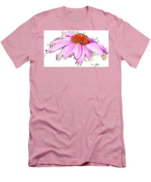 Wild Flower Three Men's T-Shirt (Slim Fit) by Heidi Smith