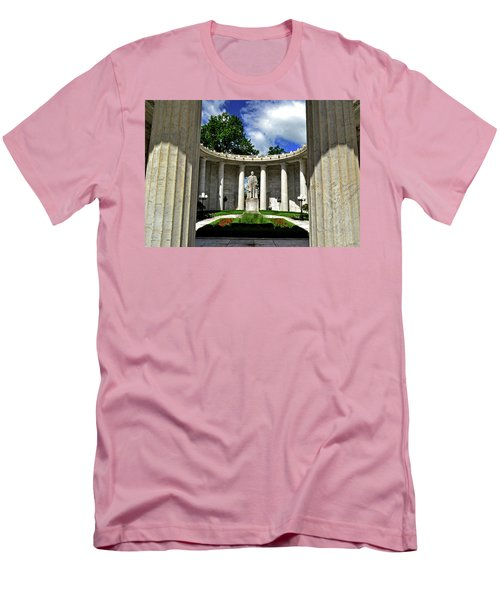 Men's T-Shirt (Slim Fit) featuring the photograph William Mckinley Memorial 002 by George Bostian