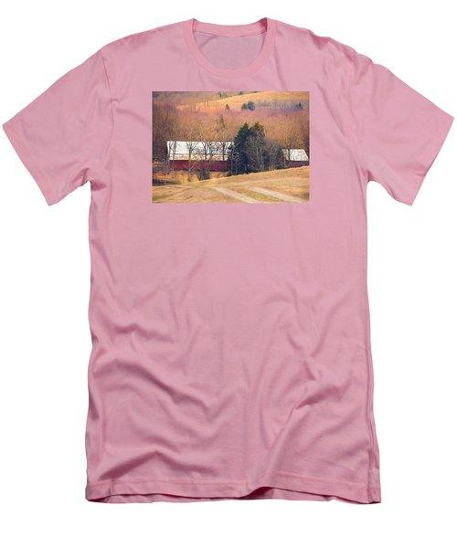Men's T-Shirt (Slim Fit) featuring the photograph Winter Day At The Farm by Debbie Karnes