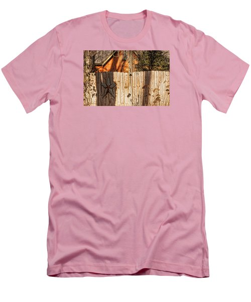Men's T-Shirt (Slim Fit) featuring the photograph Winter Fence by Trey Foerster