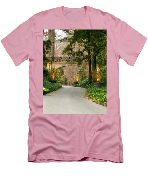 Men's T-Shirt (Slim Fit) featuring the photograph Winter In The Garden by Robin Regan
