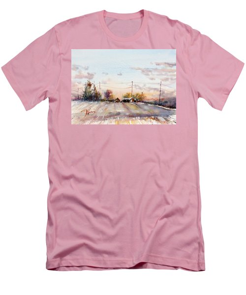 Winter Sunrise On The Lane Men's T-Shirt (Athletic Fit)