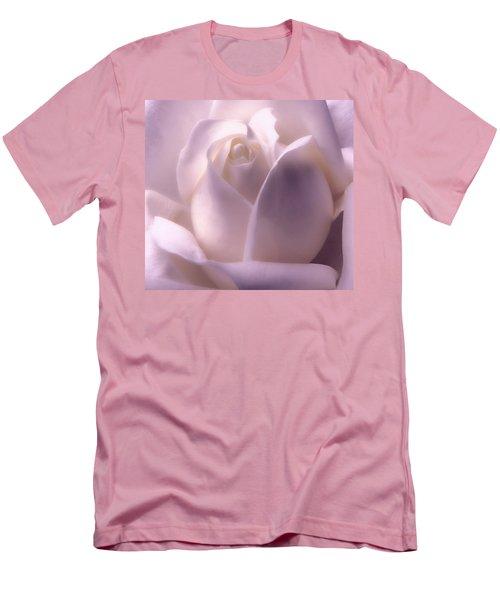 Winter White Rose 2 Men's T-Shirt (Athletic Fit)