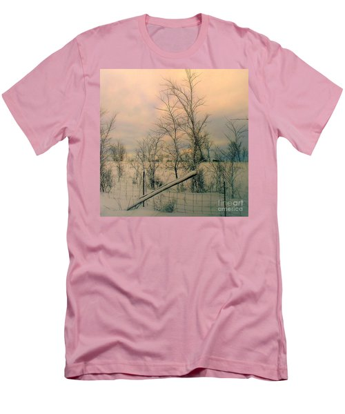 Men's T-Shirt (Slim Fit) featuring the photograph Winter's Face by Elfriede Fulda