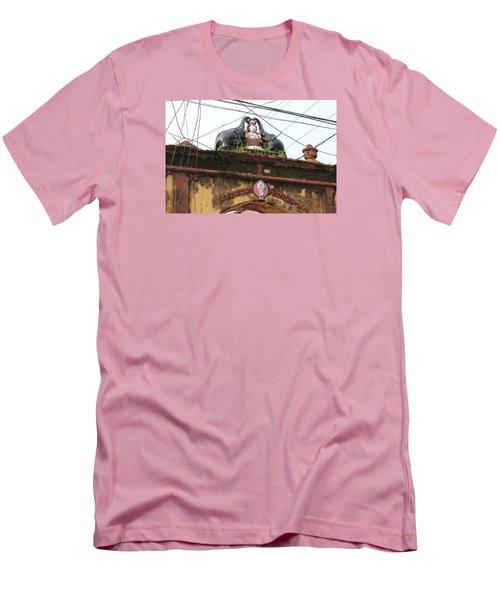 Wires And Lakshmi At Devi Temple, Kochi Men's T-Shirt (Slim Fit) by Jennifer Mazzucco