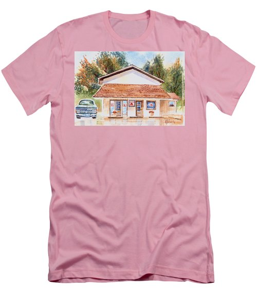 Men's T-Shirt (Slim Fit) featuring the painting Woodcock Insurance In Watercolor  W406 by Kip DeVore
