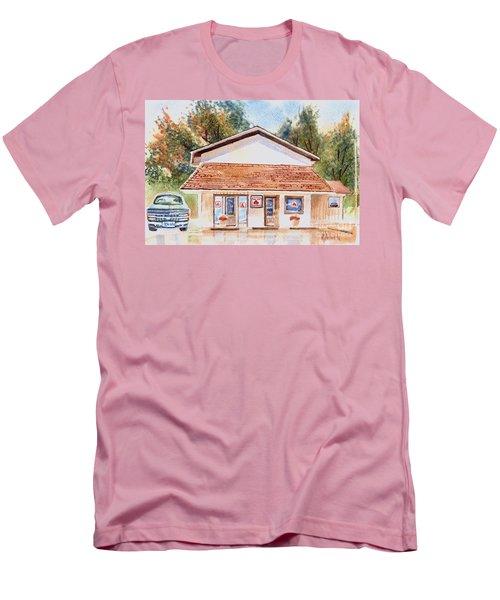 Woodcock Insurance In Watercolor  W406 Men's T-Shirt (Slim Fit) by Kip DeVore
