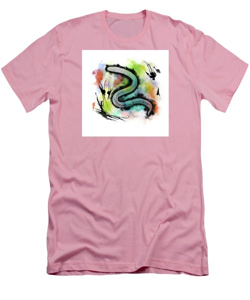 Worm Illustration Men's T-Shirt (Athletic Fit)