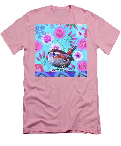 Wren Men's T-Shirt (Slim Fit) by Jane Tattersfield