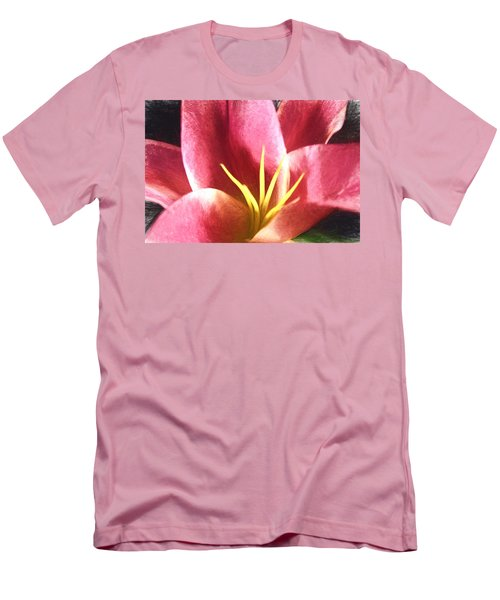 Yellow Fingers, Pink Blush Men's T-Shirt (Slim Fit) by Terry Cork